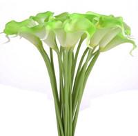 Calla Lily verde 11pcs / lot Bridal Bouquet Casamento Chefe Lataex real toque Flower Bouquets Pacote de