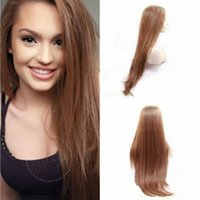 Fast Shipping 26inch Natural Look Brown Silky Straight Wigs ...