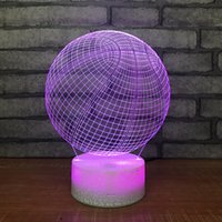 Creative 3D Lamp Acrylic LED 7 Decorative Touch Light Color Change Party Table Night Basketball Desk Smjpw