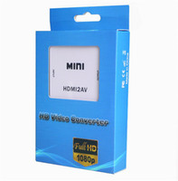 HDMI2AV 1080P Adattatore video HD da mini HDMI a AV Converter CVBS + L / R da HDMI a RCA per Xbox 360 PS3 PC360 Con confezione per la vendita OM-CD8
