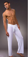 men sleep Long Pants sexy mens Silk sleep Pants bathing slee...