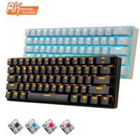 New 61 chaves RK61 Bluetooth White Wireless LED Backlit Ergonômico Mecânica Gaming Gamer Iluminado para computador portátil