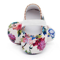 Mode Floral impression First walkers chaussures Princesse Party Ballet chaussures