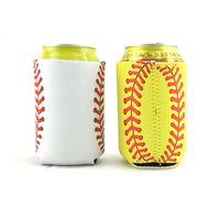10 * 13 cm Softball Baseball Pode Mangas Neoprene Bebidas Refrigeradores Pode Titular Com Tampa Inferior Da Tampa Do Copo de Cerveja Caso 4 Cores HH7-1163