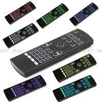 Yeni 7 Renkler Fly Air Fare Ile 2.4G MX3 Kablosuz Klavye Aydınlatmalı Aydınlatmalı 7 Renkler Android TV BOX MXQ Için Uzaktan Kumanda X96 T95