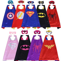 1set 9pc Mask + 9pc Cape Super Man The Flash Cloak Children&#...