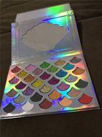 2018 Yeni Stok Cleof Paleti 32 Renkler Moda Kadınlar Güzellik Kozmetik Denizkızı Glitter Prizma Paleti Göz Makyaj Göz Farı Drop Shipping