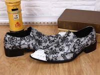 Grande taille US11 12 chaussures formelles hommes Hauteur Augmenté point orteils chaussures club / fête / personnalité de mariage chaussures de l'homme styliste cuir