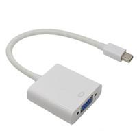전문 Thunderbolt Mini Displayport 디스플레이 포트 MacBook Air Pro iMac Mac 용 VGA 어댑터 케이블에 Mini DP