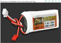 Spina JST JOP Power 850MAH 7.4V 2S 25C Lipo Battery