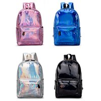 NEW Fashion Bags Holographic Backpack Silver Black Blue Pink...