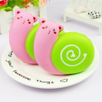 wholesale New Arrival Squishy Jumbo Cute Snails Kawaii Cream...