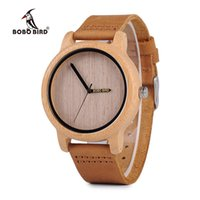 A22 2017 новая мода бамбуковые часы аналоговые унисекс бамбуковые деревянные часы повседневная Кварцевые наручные часы для мужчин женщин подарки Бобо птица