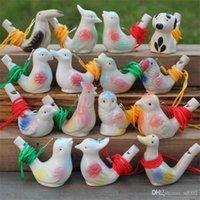 Fischio di forma dell'uccello di ceramica aggiungere il suono dell'acqua dell'ocarina che fischia i giocattoli di stile carino per le arti dei bambini molti 1 1yx zz