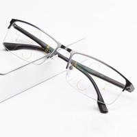 Smart Zoom Asymptotically Multi-focal Progressive Bifocal Presbyopic Occhiali Telaio in lega di titanio + lenti progressive freeform