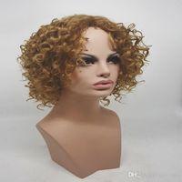 HWG1239 Kurze Lockige Haare Handgefertigte Dame Perücke Elegante Dame Neue Afro Verworrenes Lockiges Haar Welle Volumen Haar 100% Wärme Synthic Hohe Qualität Perücken