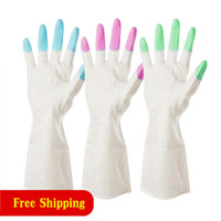 Plastic Waterproof Rubber Gloves Domestic Latex Dishwashing ...