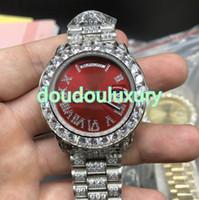 Мужские часы с бриллиантами Black Face хип-хоп хип-хоп стиль мода бизнес часы полностью автоматические спортивные наручные часы бесплатная доставка