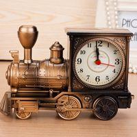 Классический поезд шаблон ретро кварцевые будильник украшения дома стол ремесла подарок на День Рождения творческий с коробками