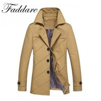 2017 New Men Jacket Coat Long Section Fashion Trench Coat Br...