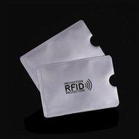 알루미늄 호일 방지 스캔 RFID 차폐 블로킹 슬리브 안전한 자기 ID IC 신용 카드 홀더 NFC ATM 비접촉식 ID 잠금 장치