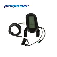 Ebike 24 V 36 V 48 V akıllı siyah KT-LCD6-USB Kontrol Paneli LCD Ekran Elektrikli Bisiklet bisiklet Parçaları için KT denetleyici