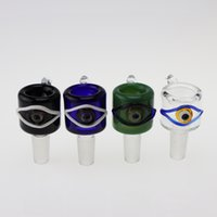 Heady Glass Bowl colorful Glass Eye Bowl for Bongs With Male...