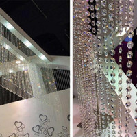 Clear Acrylic Crystal Bead Garland Strands 14mm Christmas Tr...
