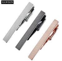 تعيين HAWSON التعادل كليب بار للرجال مجوهرات روز لون الذهب ربطة العنق شريط المشبك دبوس المشبك قميص