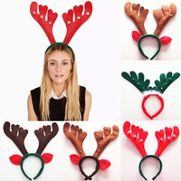 Christmas Decorations Christmas Antler Hair Bands Red Non Wo...