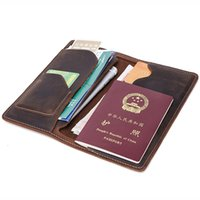 Wholesale Genuine Leather Passport Cover Women Travel Wallet...