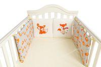 100 ٪ القطن سرير مصدات الكرتون مطرزة الأطفال وسادة حماية الفراش (11.8by 11.8 بوصة) مزيج الحرة مجموعة مفروشات الأطفال
