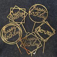 عيد ميلاد سعيد الحب كعكة توبر أكريليك عيد إمدادات الطرف الديكور