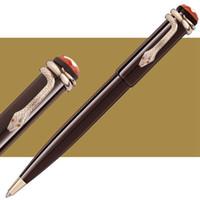 Nuove penne esclusive Collezione Heritage Penne a sfera in resina rossa scura Edizione speciale Mon roller roller a forma di penna con clip a forma di serpente