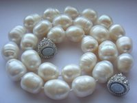 Genuine Cultured Freshwater Pearl Necklace Huge Size AA 12- 1...
