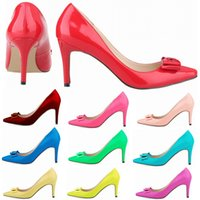 16 Colors Sexy Pointed Toes High Heels Women Pumps Patent Le...