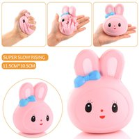 hot sale Jumbo Kawaii Squishy Rabbit Head Soft Cute Animal S...