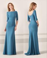 Gelin Elbiseler Turkuaz anne Uzun Kollu Aplike Boncuklu Uzun Akşam Anne Elbise Custom Made