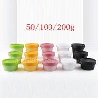 50g 100g 200g empty cosmetic containers Colored cream pot Ma...