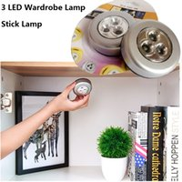 3LED 4LED Wardrobe Lamp Stick Wardrobe Touch Night Lights Tr...