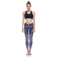 92e771811fc Pottis Leggings pour femmes Purple Mermaid échelle impression numérique Fitness  Bodybuilding mince Mesdames Yoga Pants