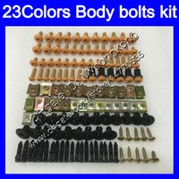 Carenagem parafusos kit parafuso completo para a Yamaha YZFR1 98 99 YZF R1 YZF 1000 YZF1000 YZF1000 YZFR1 1998 1999 porcas do corpo parafusos de porca de parafuso 25Colors kit