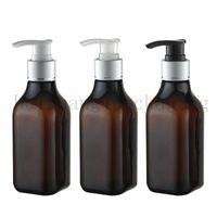 200 ml cuadrado crema champú champú bomba de plata botella de plástico embalaje de cuidado personal, 200cc contenedor de botellas de jabón líquido contenedor 35 unids