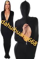 Nero Lycra Spandex Mummia Suit Costumi Sacchi a pelo Unisex Mummia Costumi Sacchi a pelo Outfit Halloween Party Cosplay Costumi DH115