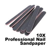 10 PZ Nail Art Levigatura Salon Buffer Nail File Carta vetrata Manicure Gel UV Lucidatore Manicure Pedicure Nail Strumenti # BS