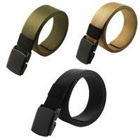 Automatic Buckle Nylon Belt Army Masculino táticos Jeans Belt Mens cintura Cintos Cintos