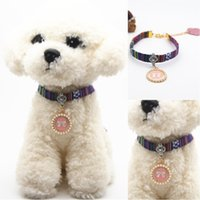 Family Wind Style Cute Pink Necklace Pet Dog Collar Bell Col...
