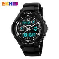 SKMEI Mode Kinder Sportuhren LED Dual Display Digital Quarz Armbanduhr Mädchen Kinder 50 MT Wasserdichte Rücklicht Uhr