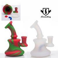 5 inç silikon banger askı duş başlığı ile temizlik için renkli silikon sigara boruları çıkarılabilir