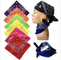 Paisley Design Elegante Magic Ride Magic Bandana anti-UV Fascia Sciarpa Hip-Hop Bandana multifunzionale Outdoor Head Sciarpa 55 * 55 cm CNY14